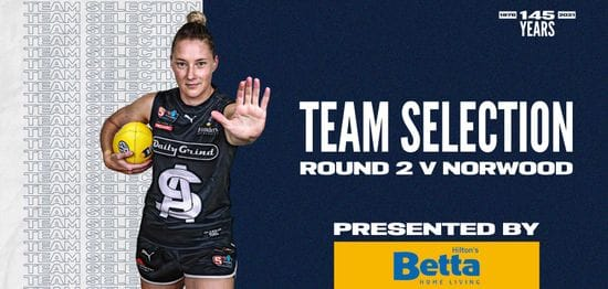 BETTA Team Selection: SANFLW Round 2 vs Norwood